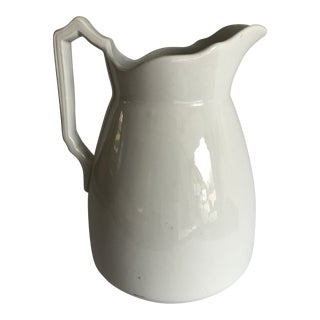 Vintage Ironstone J.&g. Meakin Made in England White Pitcher For Sale