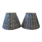 Image of Custom Maison Maison Gathered Lampshades - a Pair For Sale