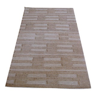 Flat Weave Dot Dash Rug - 3′ × 5′ For Sale