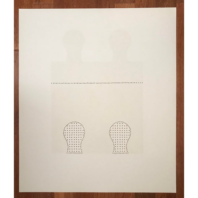 1971 Juan Martinez Composition #1 Hand Signed Silkscreen Print For Sale In Palm Springs - Image 6 of 7