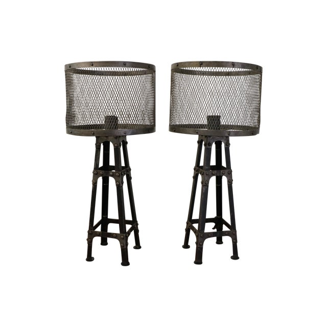 Industrial Table Lamps - Pair - Image 1 of 6