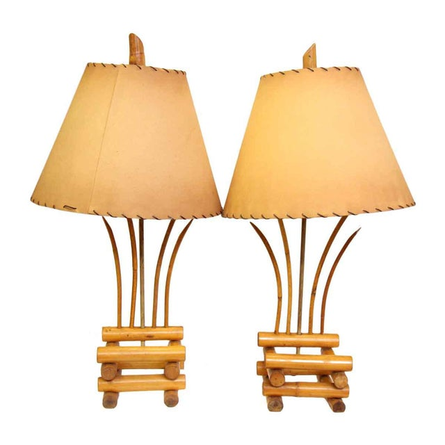 Bamboo Lamps - a Pair For Sale - Image 13 of 13