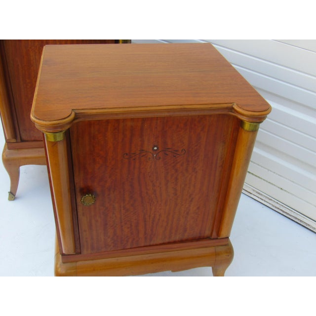 1950s French Maple Nightstands - A Pair - Image 10 of 10
