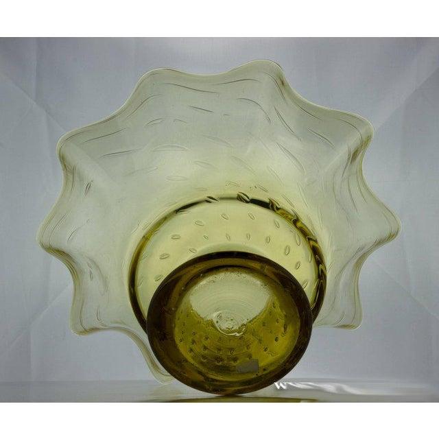 Ruffled Shape Blenko Bowl - Image 4 of 10