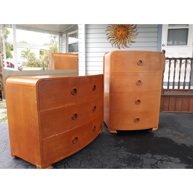 Brown 1930s Art Deco Count Alexis De Sakhnoffsky Chests of Drawers - Set of 2 For Sale - Image 8 of 11
