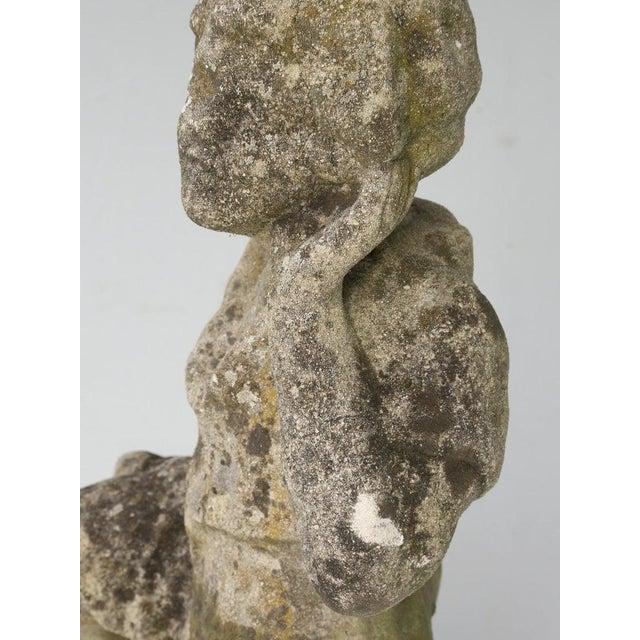 Gray English Garden Sculpture Circa 1910-20 For Sale - Image 8 of 13