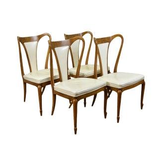 1960s Mid-Century Modern Elegant Mastercraft Sculptural Dining Chairs - Set of 4