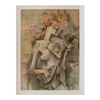 1940s Pablo Picasso, Girl With a Guitar Original Period Swiss Lithograph For Sale