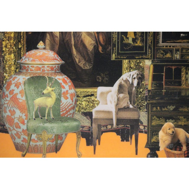 Estate Interior Decoupage Painting For Sale In New York - Image 6 of 6