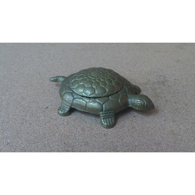 Vintage Brass Turtle Lidded Trinket Box - Image 3 of 7