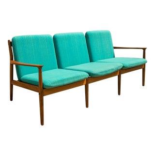 Grete Jalk for Glostrup Mobelfabrik Danish Modern Teak Sofa