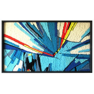 Modern Abstract Handwoven Art Rug, Circa 1970s For Sale