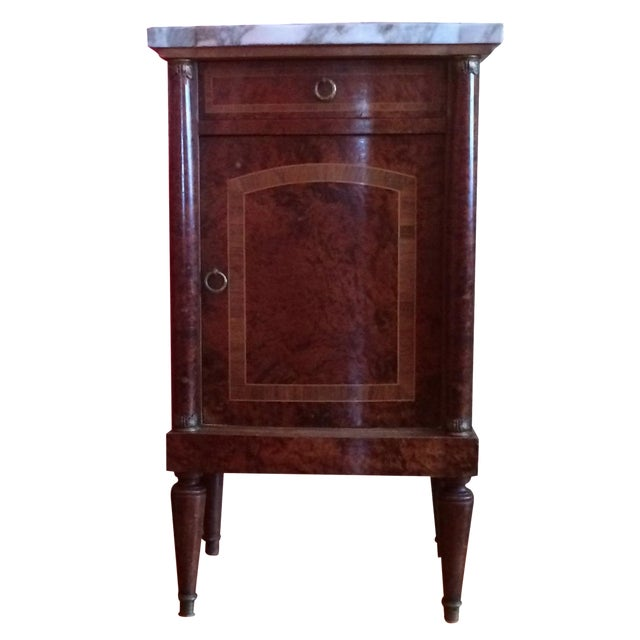 French Empire-Style Burlwood Side Table - Image 1 of 6