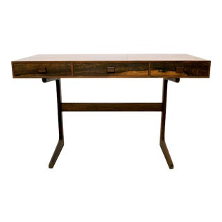 Danish Modern Cantilever Floating Rosewood Desk by Georg Petersens For Sale