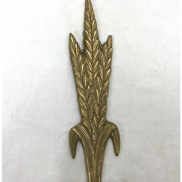 Early 20th Century Brass Wall Sconces - A Pair For Sale - Image 5 of 8