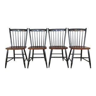 Vintage Seaport Edition L. Hitchcock Side Chairs - Set of 4