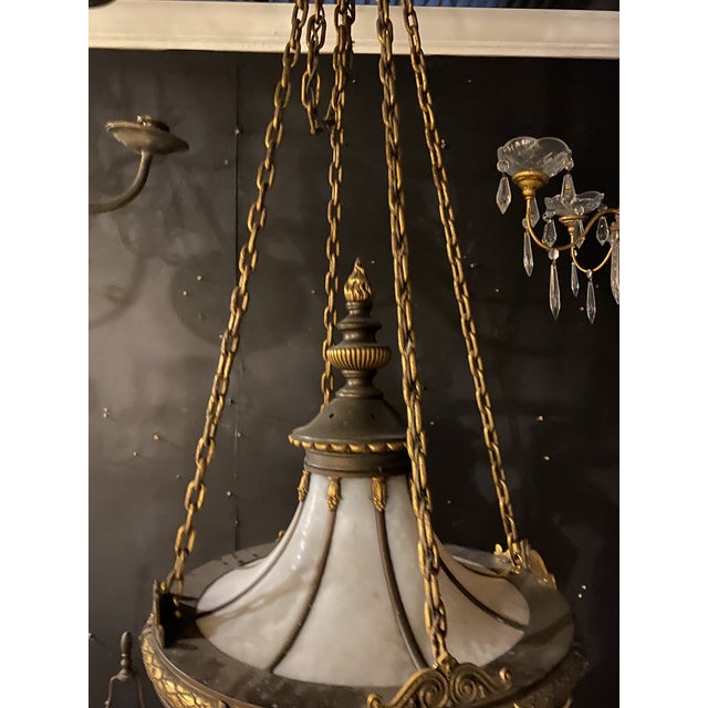 Edward F. Caldwell & Co. 1900 Caldwell Leaded Glass Light Fixture For Sale - Image 4 of 5