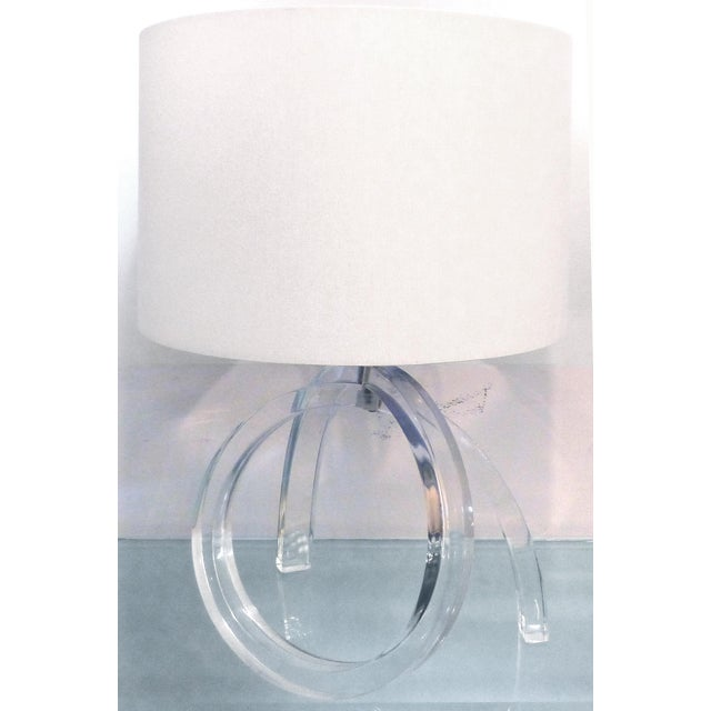 Mid-century Sculptural Lucite Table Lamp - Image 11 of 11