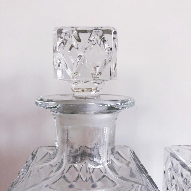 Glass Vintage Crystal Scotch and Rye Decanters For Sale - Image 7 of 8