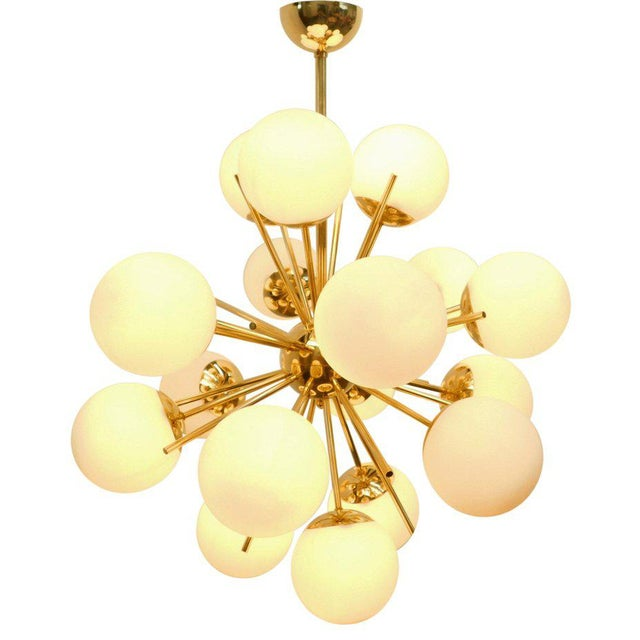 Italian Diciotto Sputnik Chandelier by Fabio Ltd For Sale - Image 3 of 9