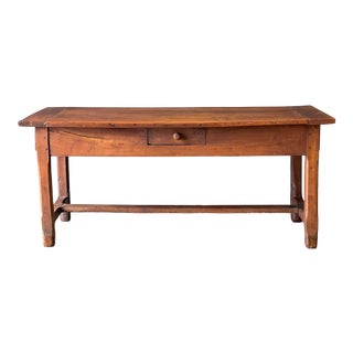 1800's Primitive French Dining/Work Table/Console For Sale
