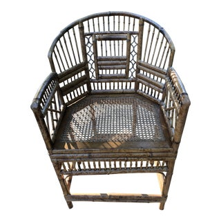 20th Century Chinoiserie Brighton Bamboo Rattan Chair