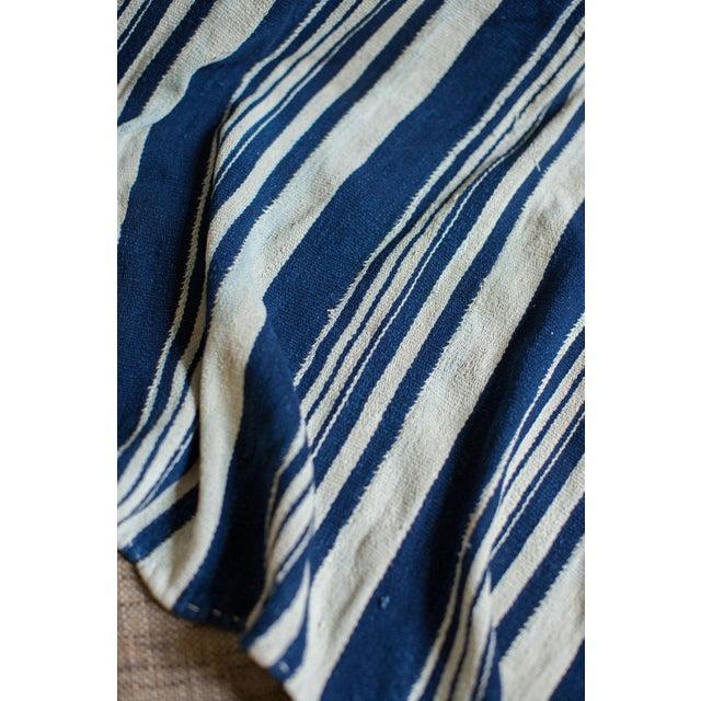 Vintage Indigo Stripe Throw - Image 4 of 7