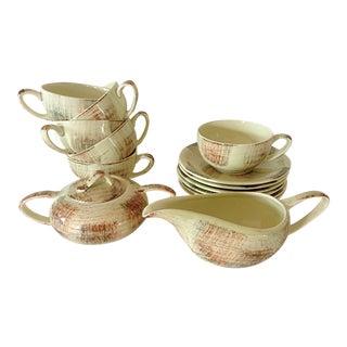 Metlox California Mid-Century Coffee or Tea Service- 14 Pieces For Sale