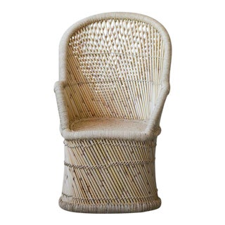 Boho Chic Hand Woven Bamboo and Rope Peacock Chair