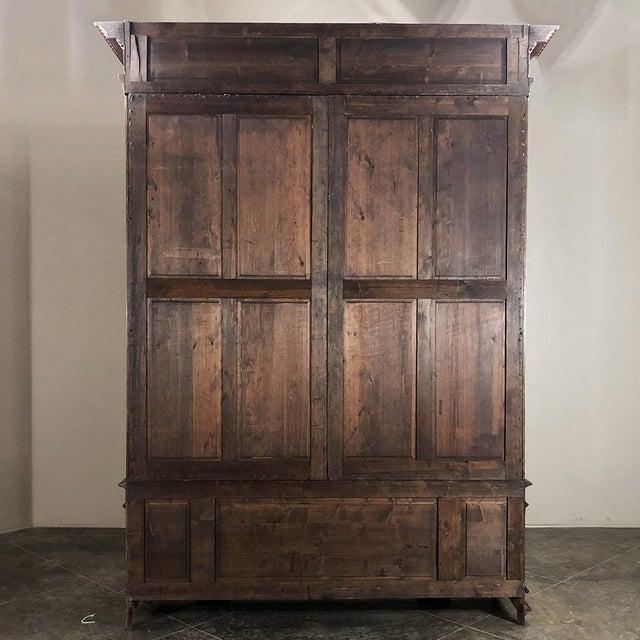 Grand 19th Century Italian Walnut Neoclassical Bookcase For Sale - Image 12 of 13