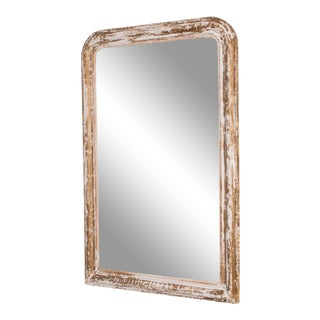 Napoleon III White Patinated Mirror For Sale