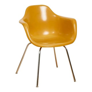 1960s Eames Style Fiberglass Arm Shell Chair by Krueger Metal Products