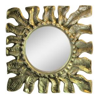 Donald Drumm Brutalist Sunburst Wall Mirror For Sale
