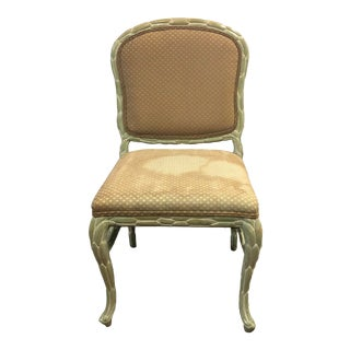 Vintage Regency Style Palm Frond Chair For Sale