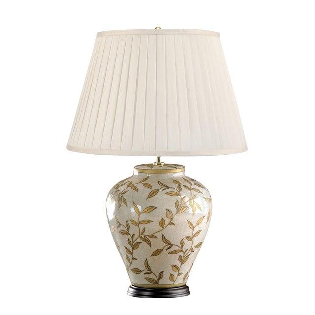 Brown leaf motif ceramic table lamp chairish brown leaf motif ceramic table lamp image 4 of 4 aloadofball Choice Image