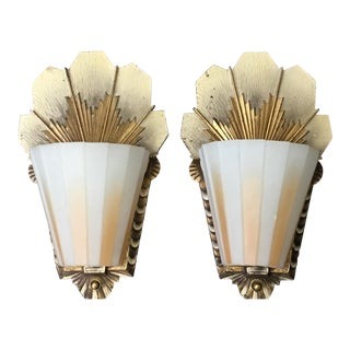 Beardslee-Williamson Art Deco Wall Sconces - A Pair For Sale