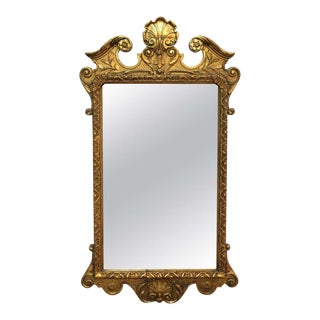 Early 20th Century Baroque Style Giltwood Wall Mirror For Sale