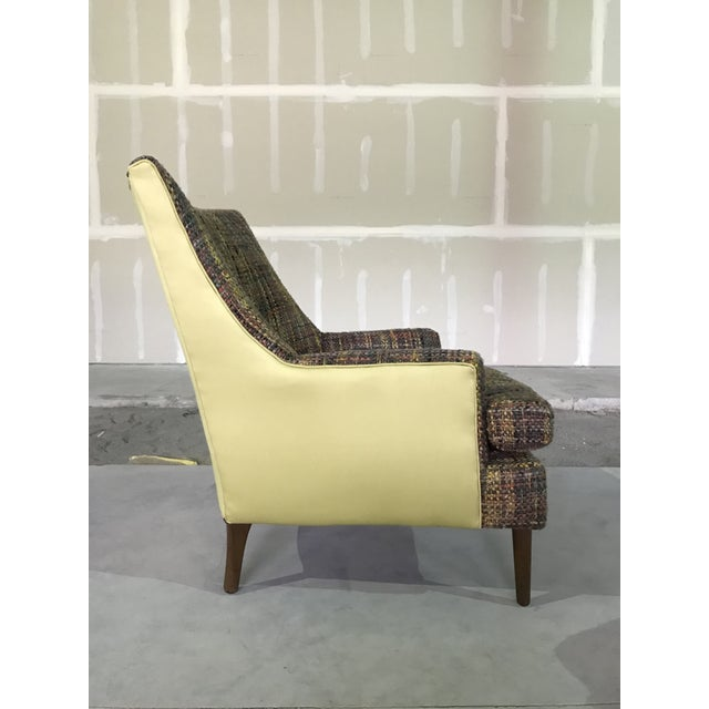 1960s Lawrence Peaboby for Richardson / Nemschoff 1960s Mid Century Modern Scandinavian High Back Lounge Chair Model 9203 and Ottoman For Sale - Image 5 of 13