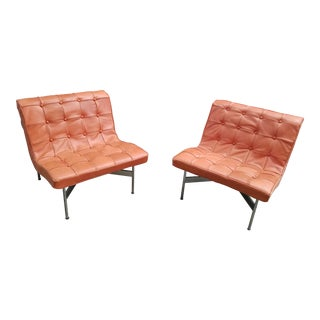 "1950s Vintage William Katavolos Ross Littell & Douglas Kelley ""New York"" Lounge Chairs- A Pair For Sale"