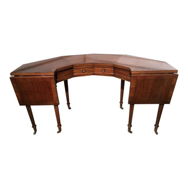 "Vintage Thomasville Drop-Leaf ""Horseshoe"" Desk - Image 1 of 10"