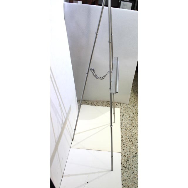 Vintage Display Easel Silver Toned Iron For Sale In West Palm - Image 6 of 9