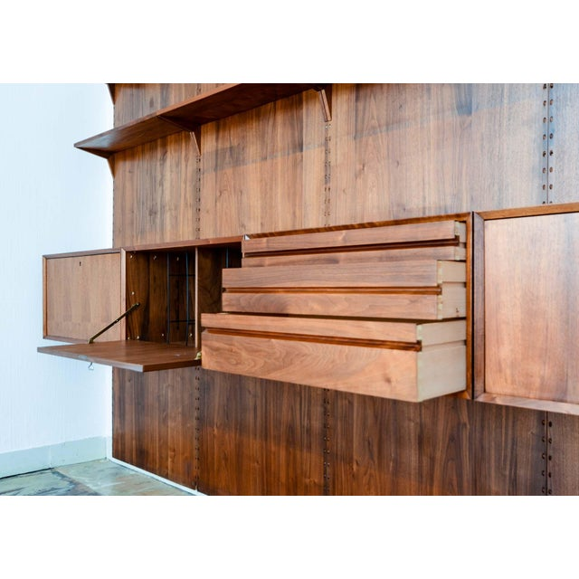 Large Mid-Century Design Teakwood Cadovius Wall Unit, Denmark, 1960s For Sale - Image 9 of 11