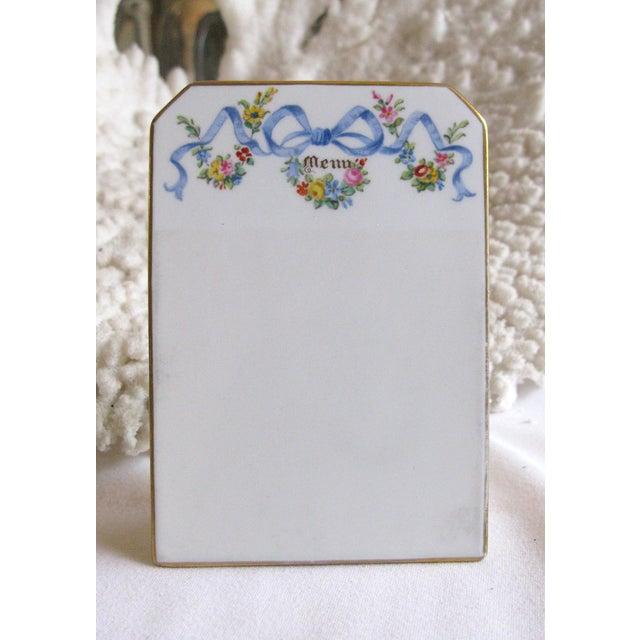 Antique English Copeland Spode Menu Board - Image 2 of 6