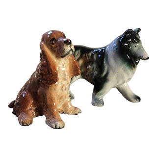 Vintage Dog Figurines - A Pair For Sale