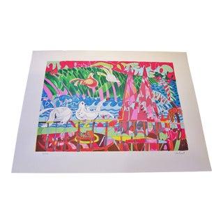 """Yes Bird"" Tom Van Sant Serigraph For Sale"