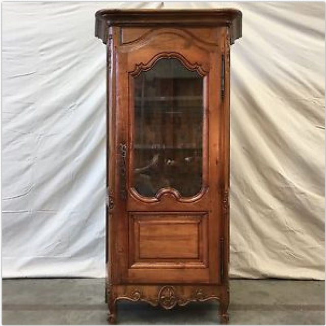 Antique French Curio Cabinet China Cabinet Display Cabinet - Image 9 of 9 - Antique French Curio Cabinet China Cabinet Display Cabinet Chairish