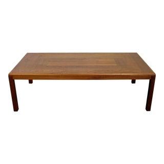 Mid-Century Danish Modern Vejle Stole Parquet Top Teak Coffee Table For Sale