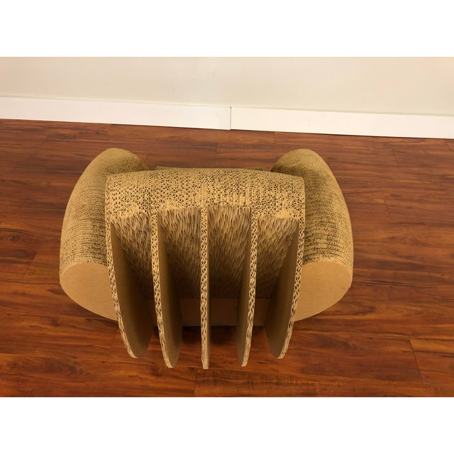 Rocking Lounge Chair Made Entirely of Cardboard For Sale In Seattle - Image 6 of 13