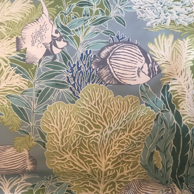 Gray Manuel Canovas Indoor / Outdoor Patmos Fabric - 3 1/2 Yards For Sale - Image 8 of 8