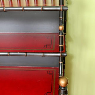 Asian Style Faux Bamboo Bookcase Preview